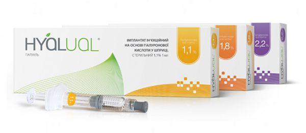 Линейка препаратов Hyalual для редермализации